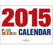 「Peacs DESIGN カレンダー(2)」エイ スタイル・カレンダー2015【第66回全国カレンダー展・審査員特別賞(葛西賞)受賞】