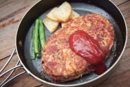 フライパンひとつで完結! がっつり食べたいハンバーグ