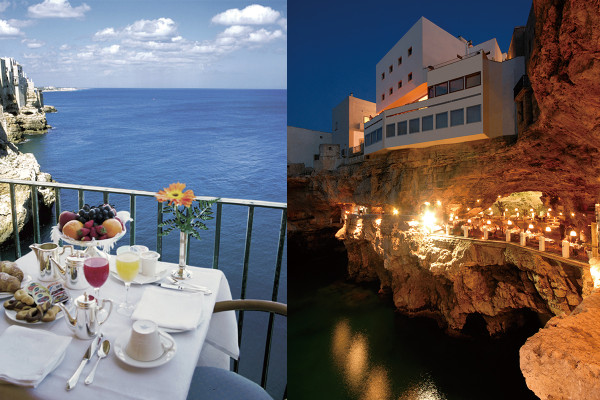 一生に一度は行きたい! アドリア海の絶景を望む、南イタリアの洞窟レストラン|「ホテル リストランテ グロッタ パラッツェーゼ」
