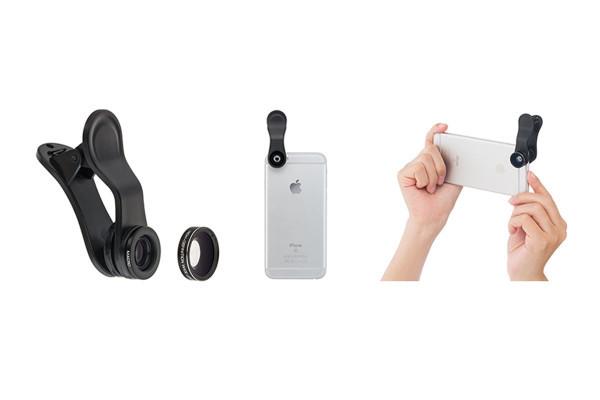 SoftBank SELECTION、iPhone向けクリップレンズ「クリップレンズ ワイド&マクロ」「クリップレンズ 3倍望遠」を発売
