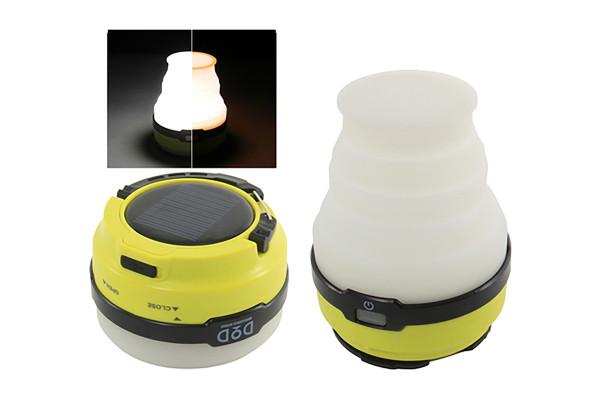 ソーラー充電と生活防水で気楽に使えるLEDランタン