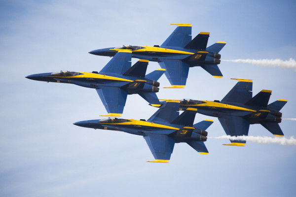 大戦機から新鋭機までアメリカの名機が勢ぞろい