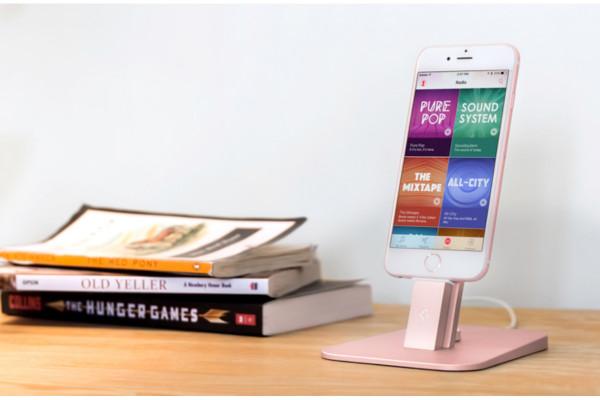 フォーカルポイント、デスクトップ充電スタンド「HiRise Deluxe for iPhone/iPad」にローズゴールド追加