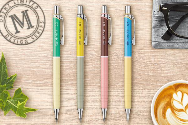 芯を出さないシャープペン、オレンズに限定【マニッシュシリーズ】が登場