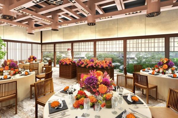 琵琶湖ホテル、日本庭園を望む和モダンスタイルの宴会場「SAZANAMI」オープン