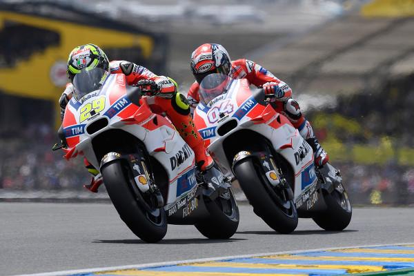 ルマン・フランスGPでドゥカティの ドヴィツィオーゾとイアンノーネがともにリタイア