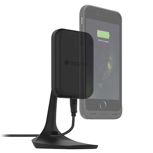 【新製品】ワイヤレス充電搭載のバッテリーケース『juice pack wireless』を接着させて簡単に充電できる、マグネット付き卓上スタンドと車載マウントが発売