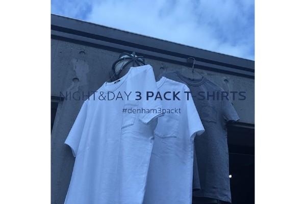 【新製品&キャンペーン情報】デンハム「NIGHT&DAY 3 PACK T-SHIRTS」日本限定発売開始!
