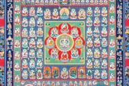 ぬりえ曼荼羅の仏