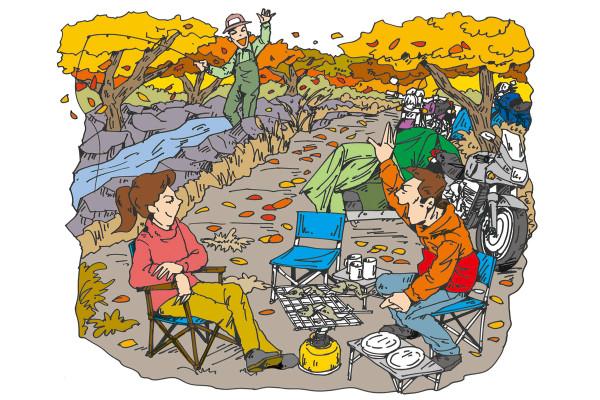 バイクにキャンプセットを積んで気ままな旅へ! 秋がキャンプツーリングにベストな理由