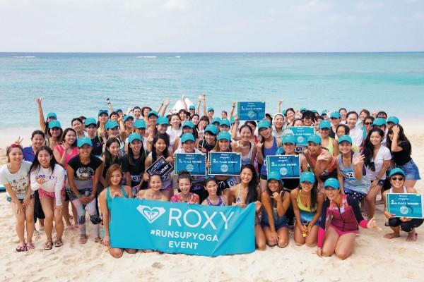 【イベント】沖縄の海でラン、サップ、ヨガを楽しもう! 「#ROXY FITNESS RunSupYoga」今年も開催!