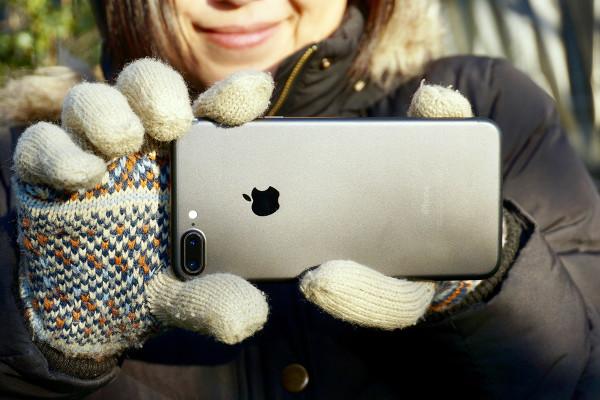 雪の日! 手袋を外さずにiPhoneで写真を撮る方法  #iPhone雪