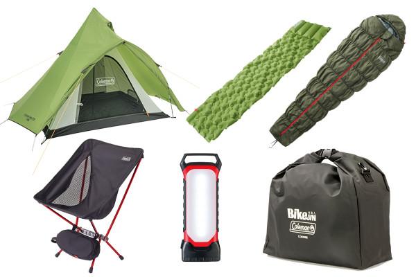 【新製品】これさえあればキャンプツーリングに行ける! BikeJIN×Coleman キャンプスターティングセット