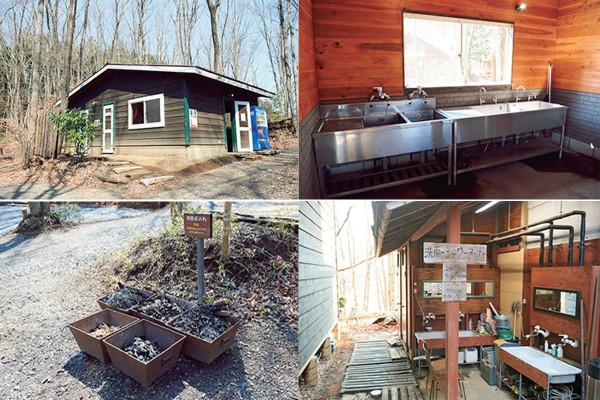 キャンプ場の施設