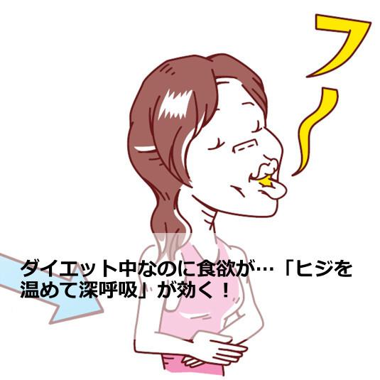 ダイエット中なのに食欲が…「ヒジを温めて深呼吸」が効く!