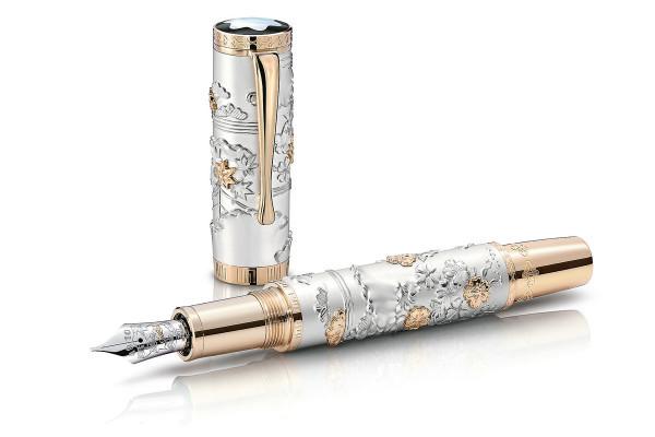 1本320万円! 贅沢な万年筆がモンブランと京友禅のコラボで誕生
