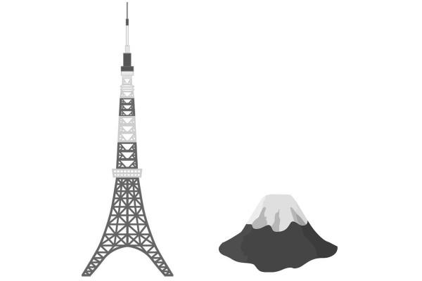 東京タワーとふじさん