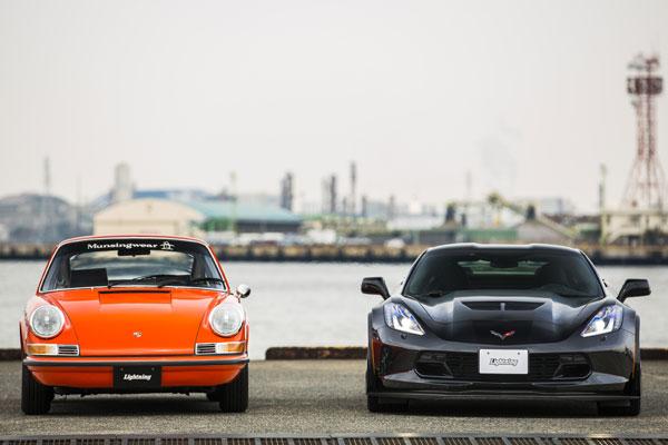 アメリカンなスポーツカー新旧競演。速さはいつの時代も男の憧れとして君臨し続ける