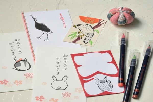 筆ペンでかわいい鳥獣戯画風イラストを描いてみよう!