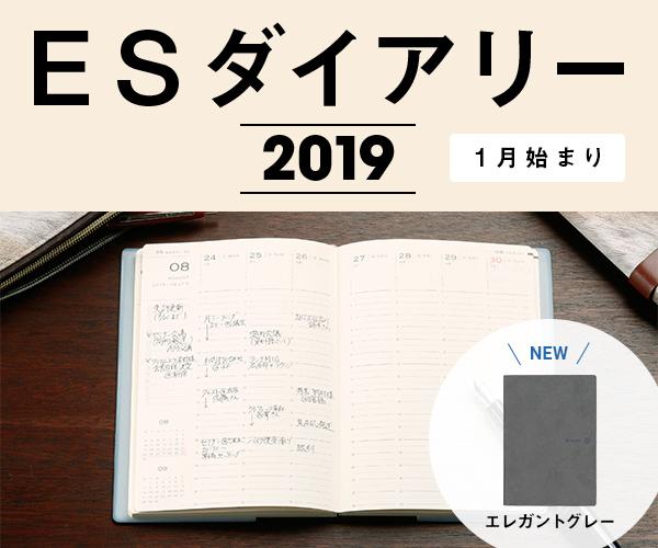 ES ダイアリー 2019 [1月始まり]