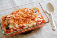 小麦粉とバターを使わなくてもこんなに美味しい♪「ホウレン草とツナの豆腐グラタン」